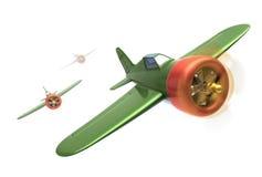 Vliegtuigen tijdens de vlucht Stock Fotografie