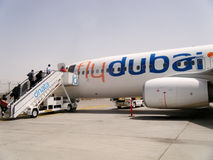 Vliegtuigen van Flaydubai royalty-vrije stock foto's
