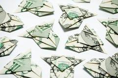 Vliegtuigen van geld stock foto