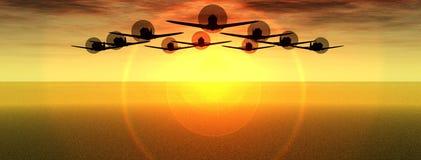 Vliegtuigen van Oorlog 3 Stock Foto's