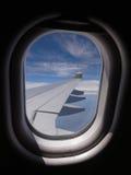 vliegtuigen venster Stock Afbeelding