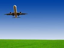 Vliegtuigen voor de burgerluchtvaart Stock Afbeeldingen