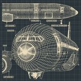 Vliegtuigen voor de burgerluchtvaarttekeningen stock afbeeldingen