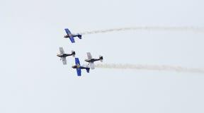 Vliegtuigen in vorming Royalty-vrije Stock Fotografie