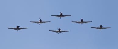 Vliegtuigen in vorming Stock Afbeeldingen