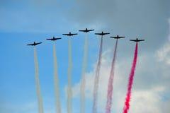 Vliegtuigen - vorming Stock Foto