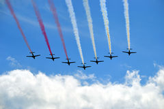 Vliegtuigen - vorming Stock Foto's