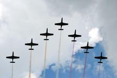 Vliegtuigen - vorming Royalty-vrije Stock Fotografie