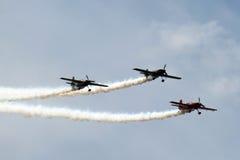 3 vliegtuigen in Vorming Stock Afbeelding