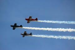 3 vliegtuigen in Vorming Royalty-vrije Stock Fotografie