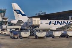Vliegtuigengrond Behandeling Stock Foto