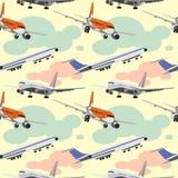 Vliegtuigenpatroon Stock Afbeeldingen