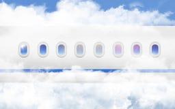 Vliegtuigens Patrijspoort Royalty-vrije Stock Afbeeldingen