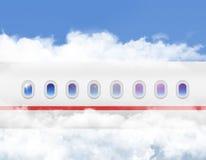 Vliegtuigens Patrijspoort Royalty-vrije Stock Afbeelding