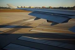Vliegtuigenvenster stock afbeeldingen