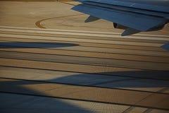 Vliegtuigenvenster royalty-vrije stock fotografie