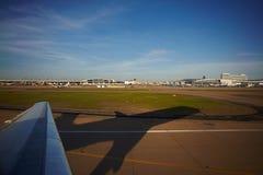 Vliegtuigenvenster royalty-vrije stock foto