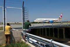 Vliegtuigfotografen royalty-vrije stock foto's
