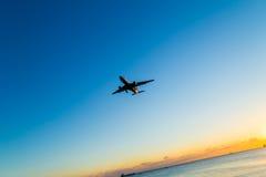 Vliegtuigglijdende beweging Royalty-vrije Stock Afbeeldingen