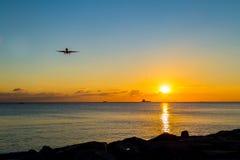 Vliegtuigglijdende beweging Stock Foto's