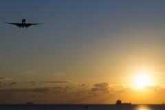 Vliegtuigglijdende beweging Stock Foto