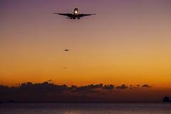 Vliegtuigglijdende beweging Stock Afbeelding