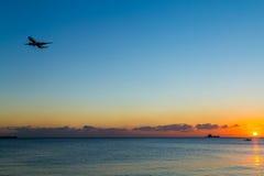 Vliegtuigglijdende beweging Royalty-vrije Stock Foto's