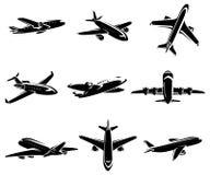 Vliegtuiginzameling. Vector Stock Foto's