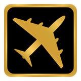 Vliegtuigknoop op wit Stock Afbeeldingen