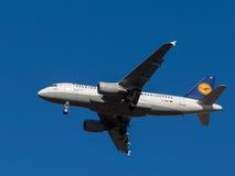 Vliegtuigluchtbus A319-100 Stock Afbeeldingen