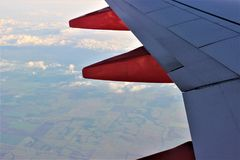 Vliegtuigmening Royalty-vrije Stock Fotografie