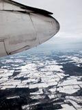 Vliegtuigmening Royalty-vrije Stock Foto's