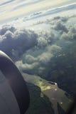 Vliegtuigmening Landschap Stock Afbeelding
