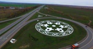 Vliegtuigmening van weg Kazan stock footage