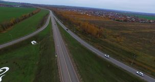 Vliegtuigmening van weg Kazan stock videobeelden