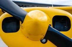 Vliegtuigneus die zeer kleurrijke propellers tonen Stock Foto
