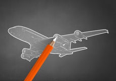 Vliegtuigontwerp Stock Foto