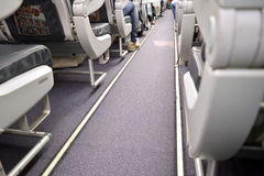 Vliegtuigpassagiers Royalty-vrije Stock Fotografie