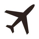 Vliegtuigpictogram Royalty-vrije Stock Afbeelding