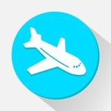 Vliegtuigpictogram groot voor om het even welk gebruik Vector eps10 Stock Foto