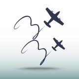 Vliegtuigpictogram, vectorillustratie Stock Afbeeldingen