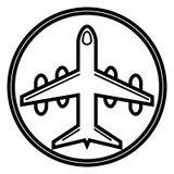 Vliegtuigpictogram, vliegtuigen vectorpictogram stock illustratie