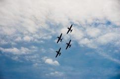 Vliegtuigprestaties Royalty-vrije Stock Fotografie