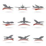 Vliegtuigreeks. Vector stock illustratie