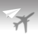 Vliegtuigschaduw Royalty-vrije Stock Fotografie
