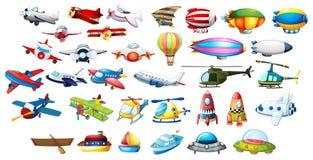 Vliegtuigspeelgoed en ballons Royalty-vrije Stock Afbeeldingen