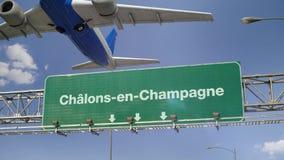 Vliegtuigstart chalons-Engels-Champagne frans royalty-vrije illustratie
