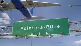 Vliegtuigstart Pointe een Pitre frans royalty-vrije illustratie