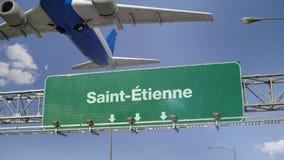 Vliegtuigstart Saint-Etienne het Frans stock illustratie