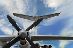 Vliegtuigturboprop Stock Foto's